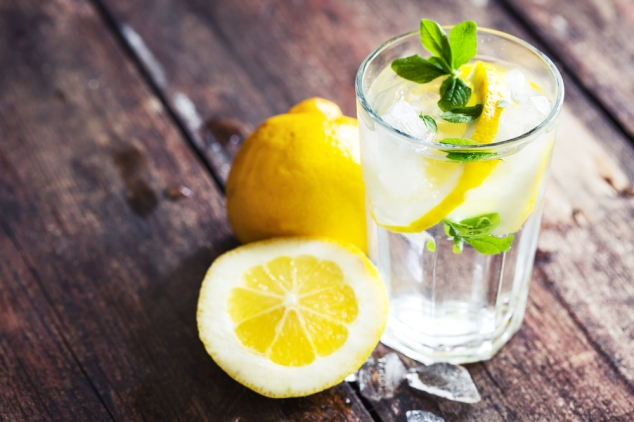 Detoxing with lemon water