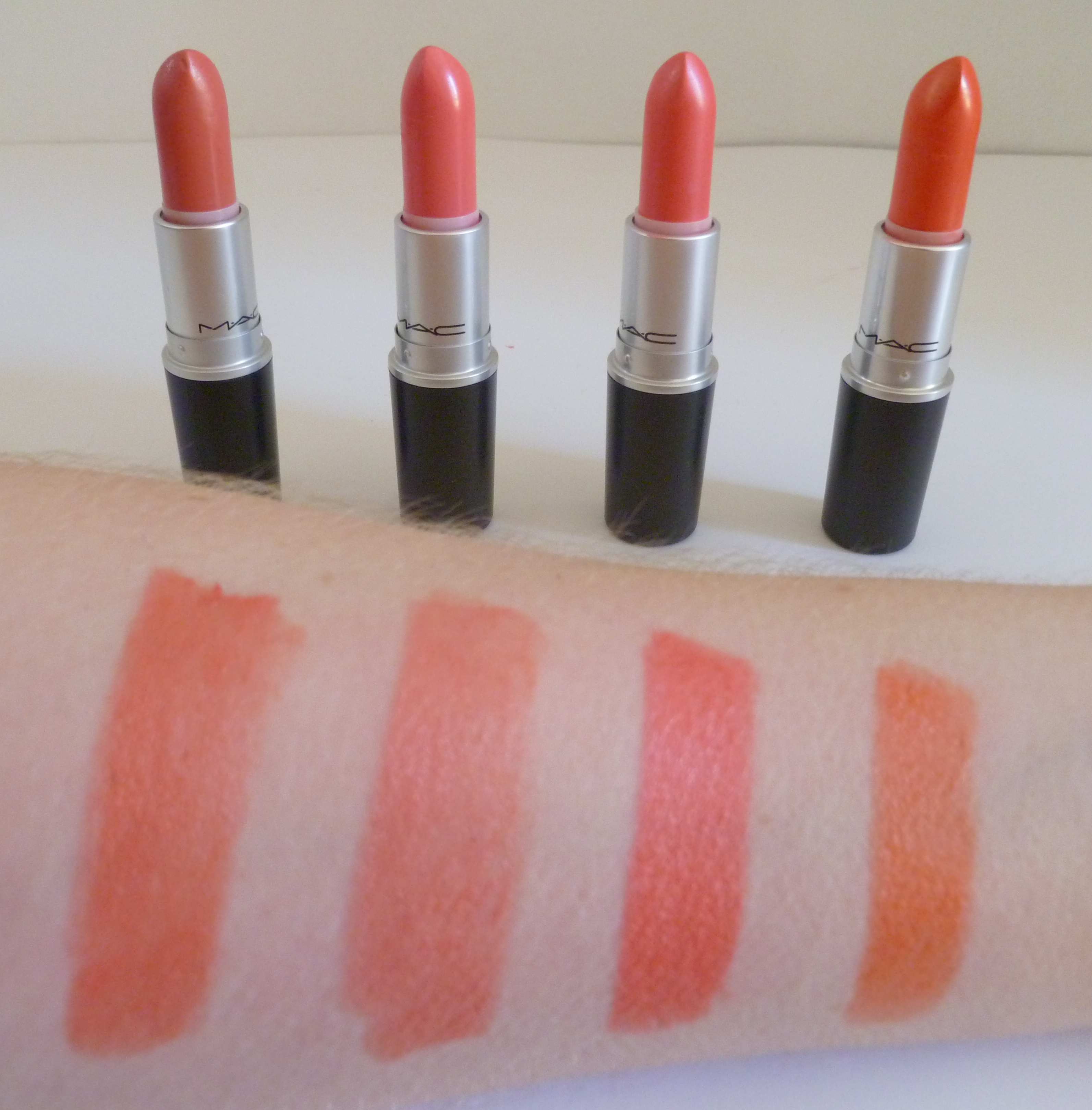 The gallery for --> Mac Lipstick Coral Shades