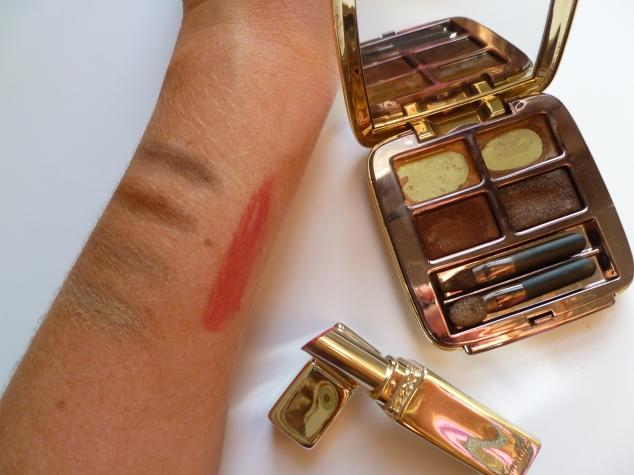 Guerlian Brun Mordoré Eye Shadow Palette & Berry Pink Lipstick