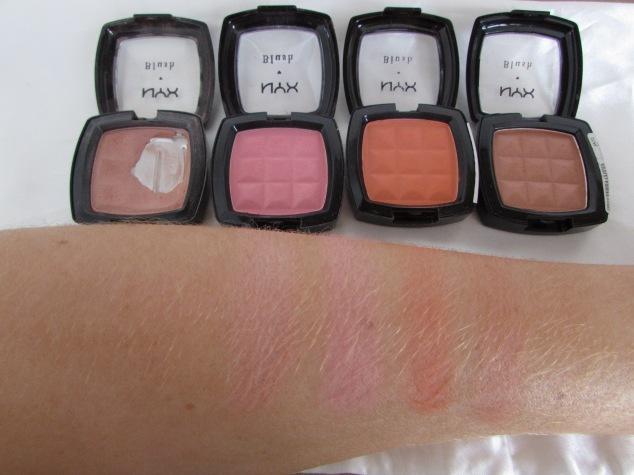 NYX Blushers: Angel, Peach, Cinnamon & Terracotta