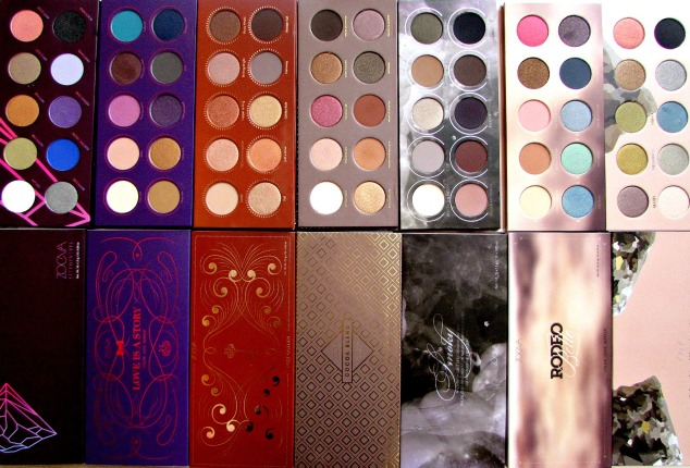 Zoeva Eye Shadow Palettes