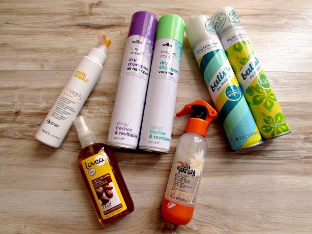 Milk_Shake's Integrity Booster, Fudge's Salt Spray, Batiste & Wilko Dry Shampoos