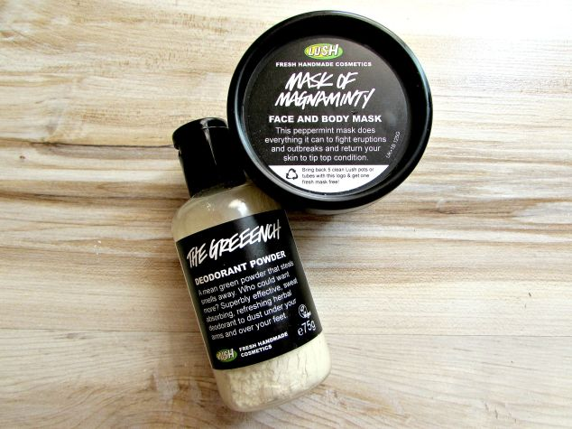 Lush's Deodorant Powder and Face & Body Mask