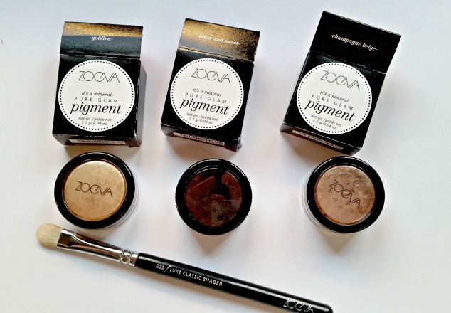 Zoeva Pigments: Goldiva, Champagne Beige and Bitter & Sweet