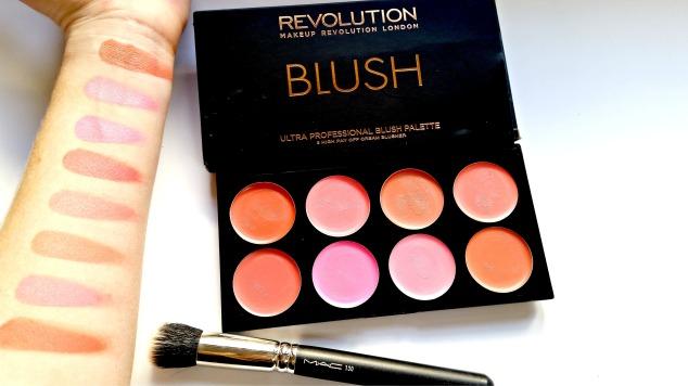 Make Up Revolution Blusher Palette: All About Cream